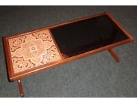 G-Plan 1970's Tile and Glass Coffee Table Retro