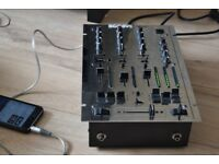 KAM 3 CHANNEL DJ MIXER CAN BE SEEN WORKING