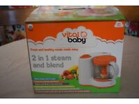 Vitalbaby 2 in 1 steam and blend baby food maker BRAND NEW IN BOX