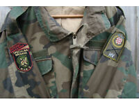 Badged Croatian Army M65 Combat Jacket from Croatian War of Independence