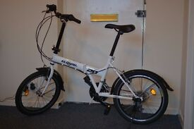 """ECOSMO SPORT 20"""" Folding Shoper Bicycle 21 speed Shimano gears hardly used"""