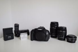 Canon 600D Camera with 3 Lenses