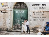 Shoot Joy WEDDING PHOTOGRAPHY WORKSHOP at Victoria Baths, Manchester