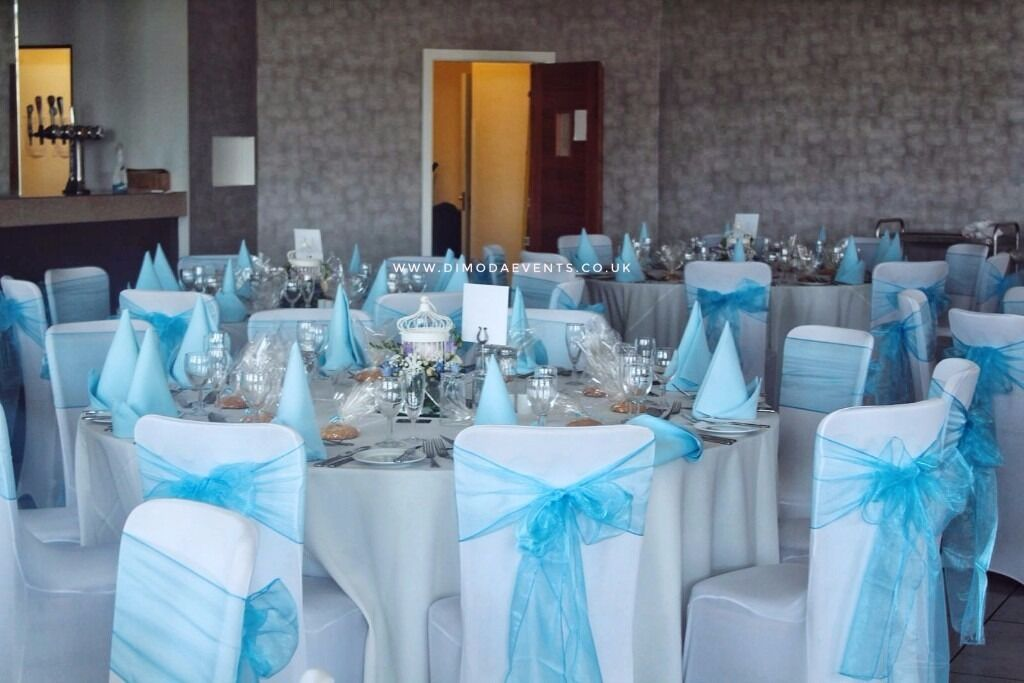 HIRE Cheap 70p Chair Covers And Sashes 40p For Weddings Baby Showers Children Parties