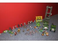 Large collection of TMNT including jeep, tank, turtle tower , bikes and many figures. See photos!