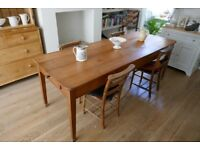 Antique Cherry Wood Farmhouse French Dining / Kitchen Table 225cm