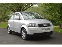 FOR SALE AUDI A2-TIMING BELT REPLACED AT 70,000 MOT TILL AUG 2017 WITH 2 REMOT KEYS-ALLOY WHEELS !!