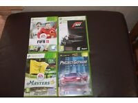 XBOX 360 Fifa 11 Project Gotham Racing Masters 12 Tiger Woods PGA Golf Forza 3