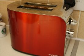 Morphy Richards Red/Stainless Steel 2 Slice Toaster. Model: 44206 * Available 13th Nov *