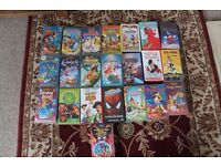 Children VHS and DVD's
