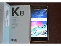 K8 LG SMART PHONE £75 THREE WEEKS OLD NEW £119