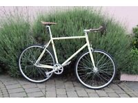NEW IN!! !!! Steel Frame Single speed road bike fixed gear racing fixie bicycle 78UIS
