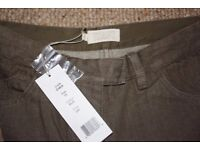 Women's Toast jeans, light brown, size 10, brand new with tags