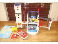 Playmobil fire station and fire car COST £85