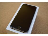 iPhone 6s, Space Gray, 128gb with black leather Apple case and Apple Care