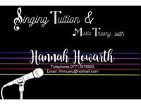 Mobile Singing Tuition in South Yorkshire from just £7 a lesson!