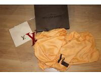 Luxury Louis Vuitton yellow orange color Scarf /Shawl - brand new