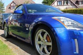 Metallic Blue, Nissan 350Z, Convertable