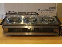 Buffet Hostess Food Warmer Side Server Plate Warmer