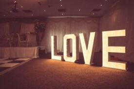 4ft Love Letters light up, weddings, engagements etc