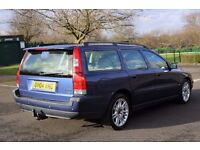 VOLVO V70 2.4 D DIESEL AUTOMATIC ESTATE BLUE TOWBAR LONG MOT LEATHER HEATED SEATS NEW TYRES