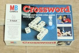 Vintage 1978 MB Games Crossword, Make Quickest Highest Scoring Crossword, 1 or More Players. Histon