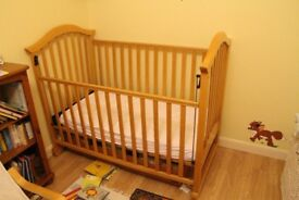 Cot bed with under storage