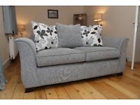 3 Seater and 2 Seater Scatter Cushion Suite - Duck Egg Blue