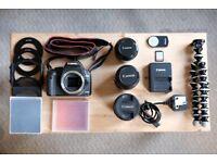 CANON 500D Camera + Lens Bundle £400