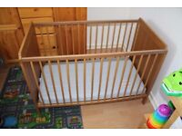 IKEA Leksvik cot bed with mattress