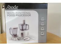 Abode food processor with all accessories