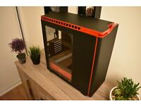H440 Mid Tower Case - Black / Red with NEW FANS!