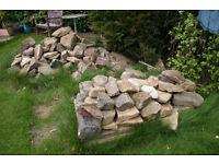 STONE for rockery, walling, edging etc