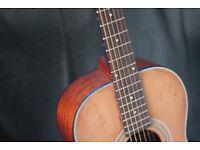 Farida, parlour guitar - refurbished, open pore finish