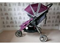 Baby Jogger City Mini Pushchair in Purple with CosyToes
