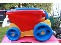 Delightful pull along cart/truck . Used but in good condition. Collection only.