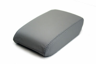 08-16 Audi A5 Compatible Center Armrest Console Lid Cover Leather Gray