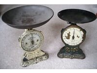 Antique Salter no. 47 kitchen scales decorative 10g to 1Kg x2 lots x1 fixed pan kitchenalia