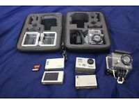 GoPro Hero 2 with 32GB SD card, Wifi pack, battery pack and LCD screen
