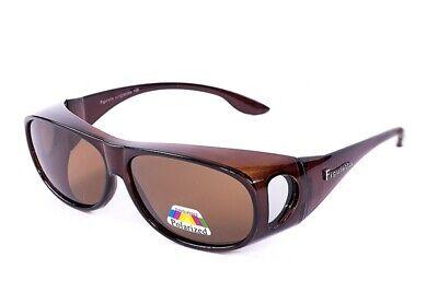 Figuretta Sonnenbrille Überbrille in braun aus der TV Werbung Brille UV