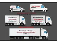 CHEAP UK & Europe Removal Services Moving Office Furniture House Waste Clearance Man & Van Hire.