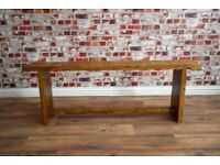 Eco Bench made from Rustic Reclaimed Wood - Brand New