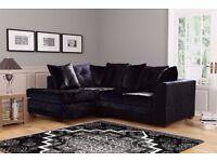 🔥🔥PICK ANY COLOR OR DESIGN🔥New Italian Double Padded Dylan Crushed Velvet Corner Sofa Or 3+2 Sofa