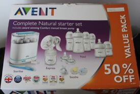 NEW PHILIPS AVENT COMPLETE NATURAL STARTER SET