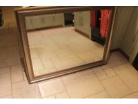 "Large Mirror 46"" by 36"" Gold / Bronze finish"