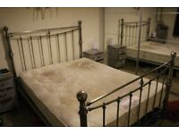 Elegant Kingsize Bed Frame with Relyon Mattress