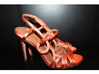Reiss Orange Sandals Brand New Silk Size 5 / 6