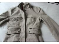 John Rocha jacket, Dark Beige/Khaki, lined & machine washable.