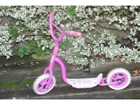 "A well made child's scooter ""Barbie"" themed."