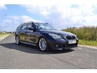 BMW 525d M SPORT LCI 3,0d 197hp Touring Black Half Leather Sat Nav Start&Stop Nice family car !